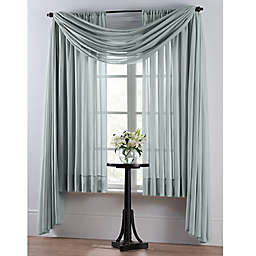 Smart Sheer™ Insulating Voile 95-Inch Window Curtain Panel in Spa Blue