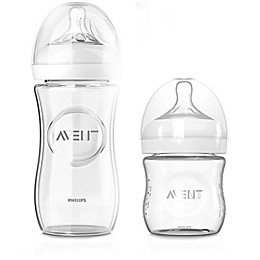 Philips Avent Natural 3-Pack Glass Baby Bottles