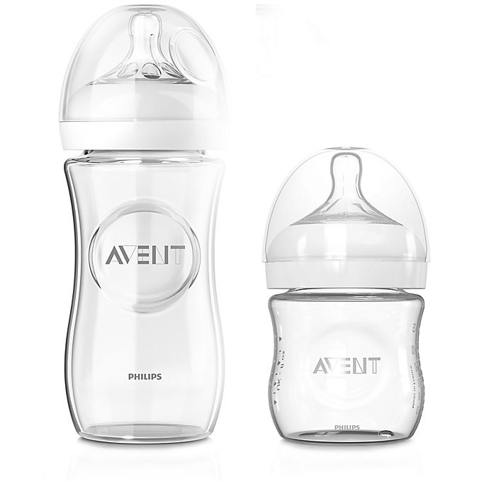 Alternate image 1 for Philips Avent Natural 3-Pack Glass Baby Bottles
