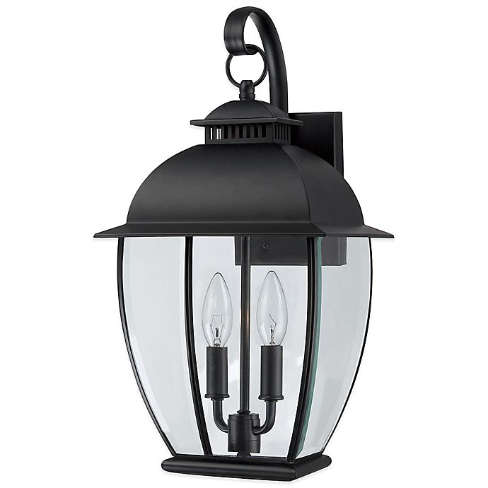 Alternate image 1 for Quoizel Bain Outdoor Wall Lantern in Mystic Black