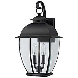 Quoizel Bain Outdoor Wall Lantern in Mystic Black