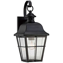 Quoizel® Millhouse Small Wall-Mount Outdoor Lantern in Mystic Black