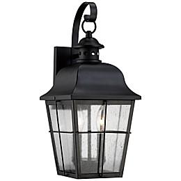 Quoizel Millhouse Outdoor Wall Lantern in Mystic Black