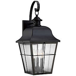Quoizel® Millhouse Large Wall-Mount Outdoor Lantern in Mystic Black
