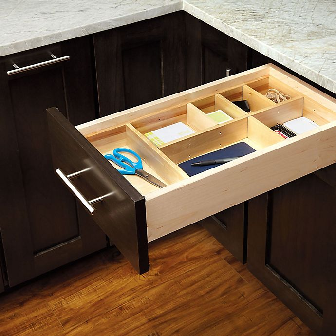 Kitchen Cabinet Drawer Kits: Rev-A-Shelf Adjustable Wood Drawer Organizer Kit
