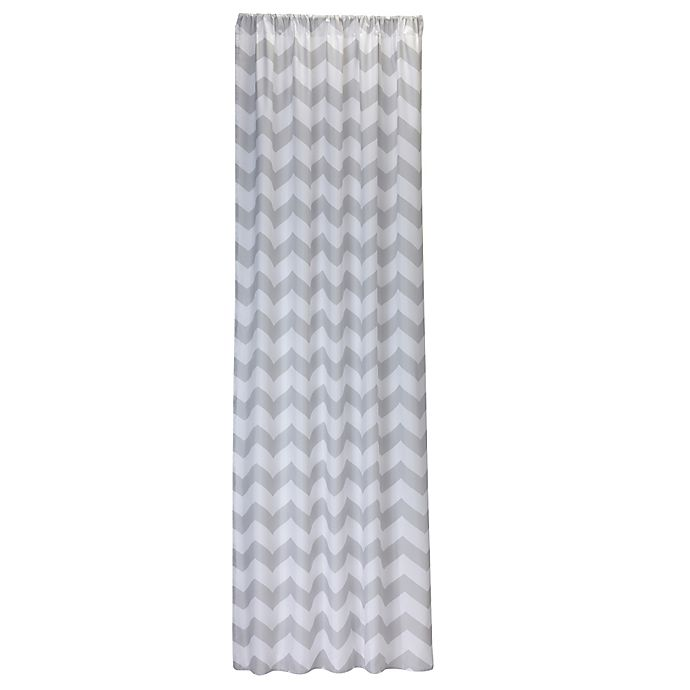 Alternate image 1 for Little Bedding by Nojo® Window Panel in Grey Chevron