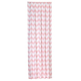 Little Bedding by Nojo® Window Panel in Pink Chevron