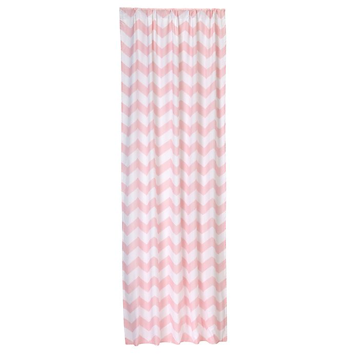 Alternate image 1 for Little Bedding by Nojo® Window Panel in Pink Chevron