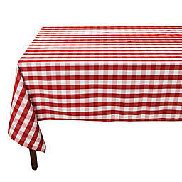 Riegel® Red Check 90-Inch Square Tablecloth