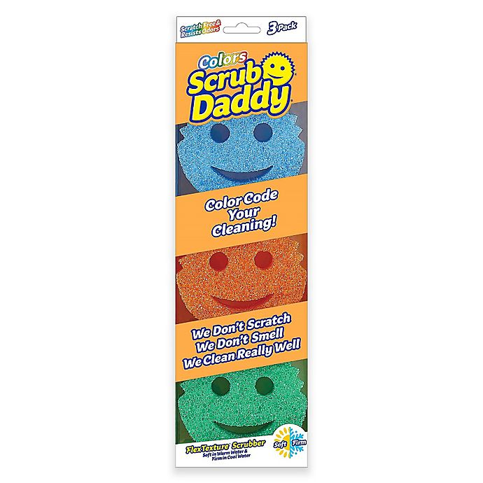 Alternate image 1 for Scrub Daddy® 3-Piece Color Sponges Set