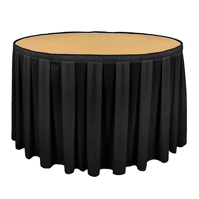 Alternate image 1 for Riegel® Poly Twill 60-Inch Round Table Skirting in Black