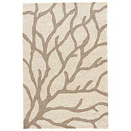 Jaipur Coastal Lagoon Coral Indoor/Outdoor Area Rug in Beige