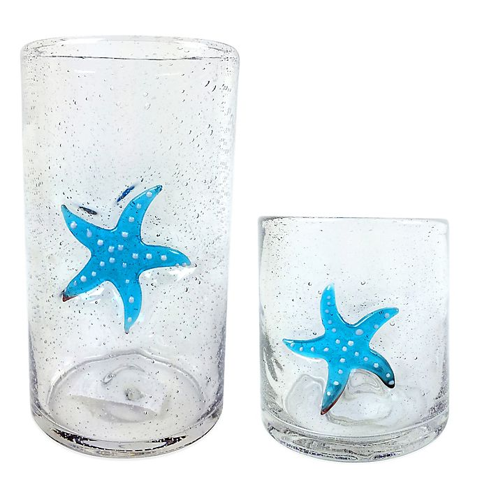 Alternate image 1 for Bubble Starfish Glass Drinkware