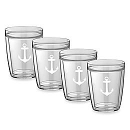 Kraftware™ Double Wall 14 oz. Short Anchor Glasses (Set of 4)