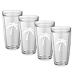 Kraftware™ Double Wall Tall Palm Tree Glasses (Set of 4)