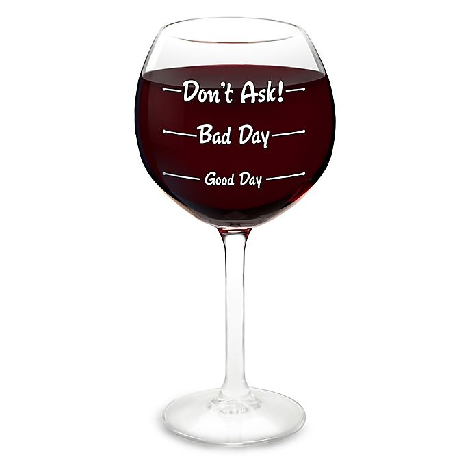 Alternate image 1 for Big Mouth Toys How Is Your Day Wine Glass