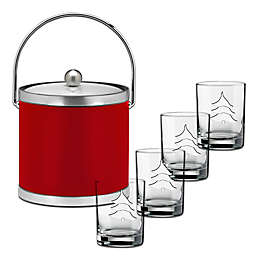 Kraftware™ Sophisticates Red Brushed Chrome 5-Piece Holiday Set