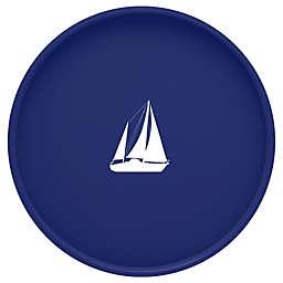 Kraftware™ Round Vinyl Sail Boat Serving Tray in Blue