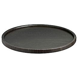 Kraftware™ Woodcraft Ebony Round Vinyl Serving Tray in Black