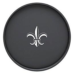 Kraftware™ Round Vinyl Fleur De Lis Serving Tray in Black