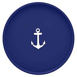Kraftware™ Round Vinyl Anchor Serving Tray in Blue