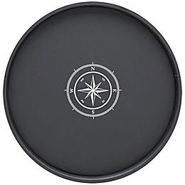 Kraftware™ Compass Point Round Tray in Black
