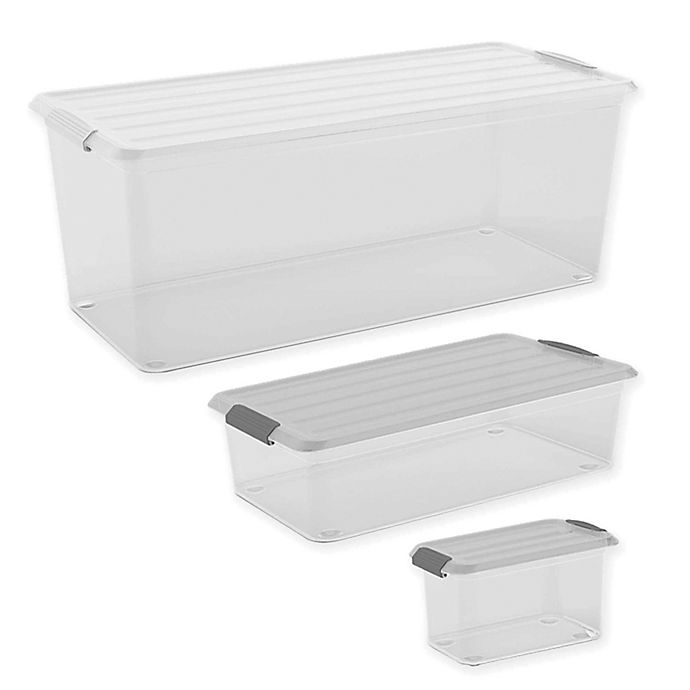 Alternate image 1 for Curver® Latch Mates Storage Container with Lid in Clear/Grey