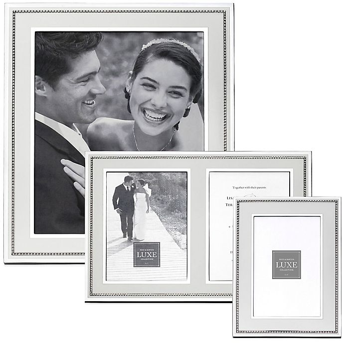 Alternate image 1 for Reed & Barton Luxe Collection Facets Picture Frame in White/Silver
