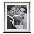 Reed & Barton Luxe Collection 8-Inch x 10-Inch Facets Picture Frame in White/Silver