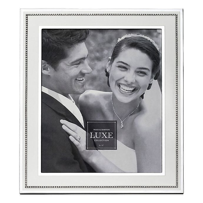 Alternate image 1 for Reed & Barton Luxe Collection 8-Inch x 10-Inch Facets Picture Frame in White/Silver