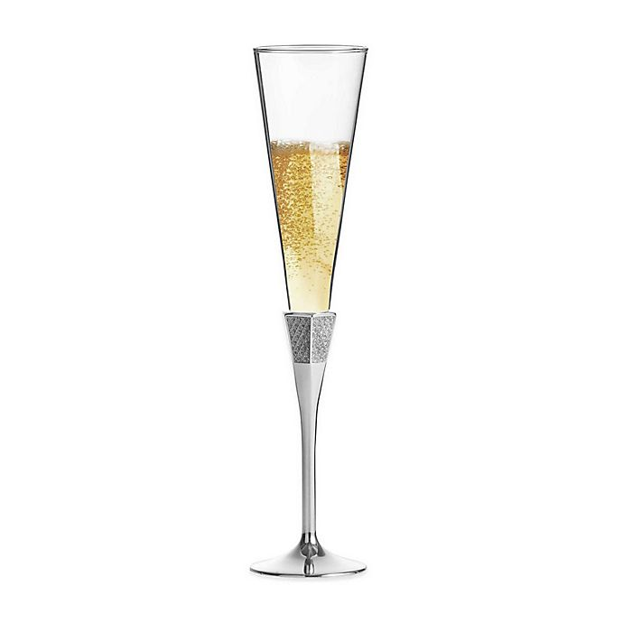 Alternate image 1 for Waterford® Lismore Diamond Toasting Flutes in Silver (Set of 2)
