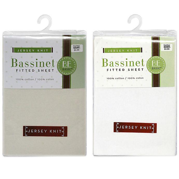 Alternate image 1 for BE Basic™ Bambino Basics Jersey Knit Bassinet Sheet