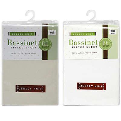 BE Basic™ Bambino Basics Jersey Knit Bassinet Sheet