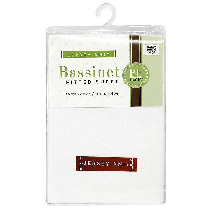 Alternate image 1 for BE Basic™ Bambino Basics Jersey Knit Bassinet Sheet in White