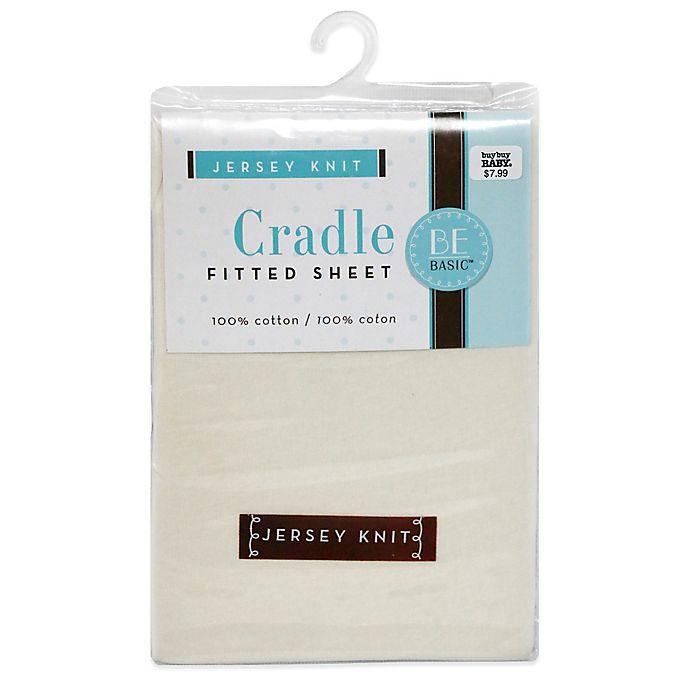 Alternate image 1 for BE Basic™ Bambino Basics Jersey Knit Cradle Sheet in Ecru