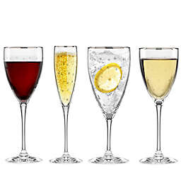 kate spade new york Larabee Dot Platinum Stemware Wine Glass Collection
