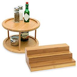 Lipper Bamboo Cabinet Organizers