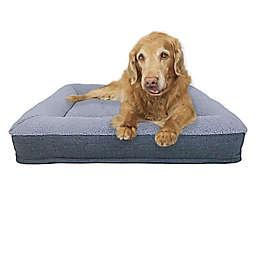 Bee & Willow™ Home Memory Foam Bolster Pet Bed in Grey