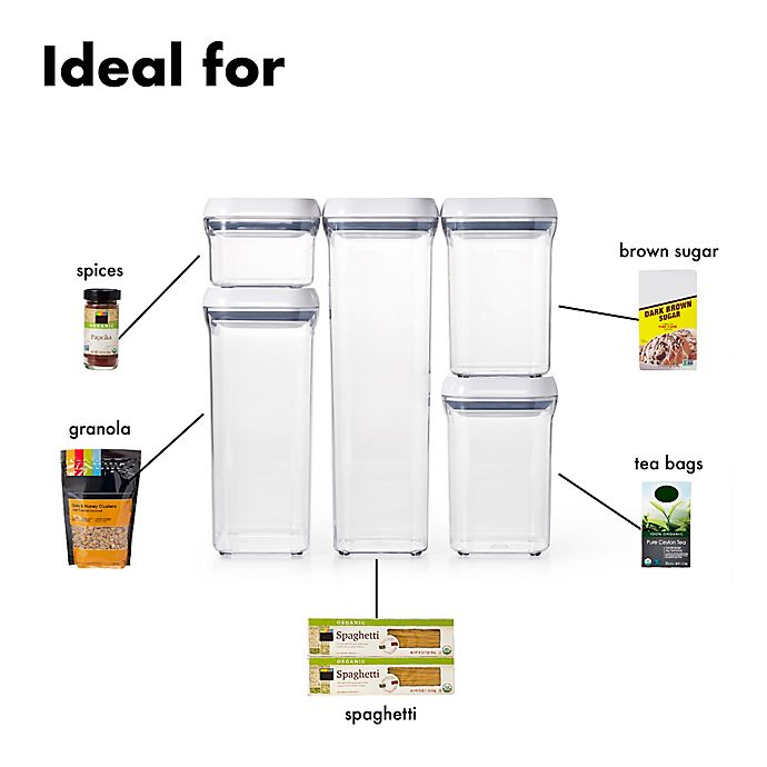 OXO Good Grips® 5-Piece Food Storage Pop Container Set | Bed