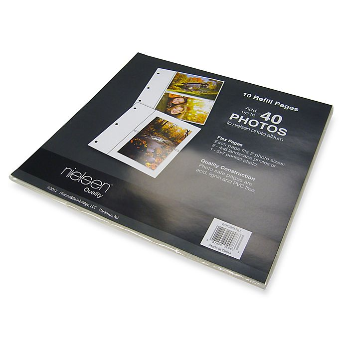 Bookcloth Ringbound Photo Album Refill Pages Pack Of 10 Bed Bath