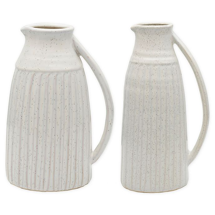 Alternate image 1 for Bee & Willow™ Home Ceramic Pitcher Vase in White
