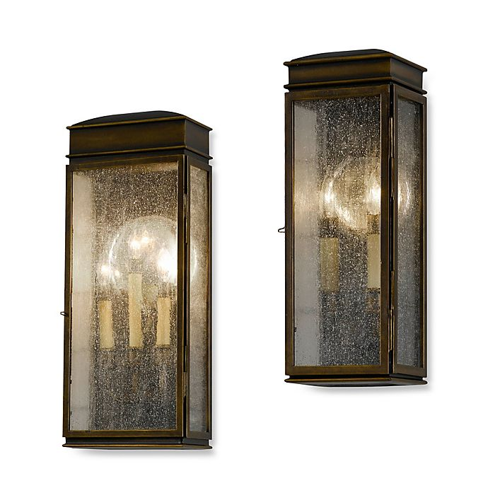 Alternate image 1 for Feiss® Whitaker Outdoor Wall Lantern in Astral Bronze
