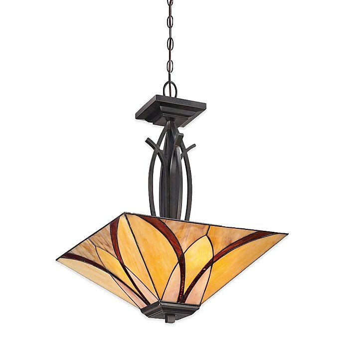 Alternate image 1 for Quoizel Asheville 3-Light Pendant Light in Valiant Bronze