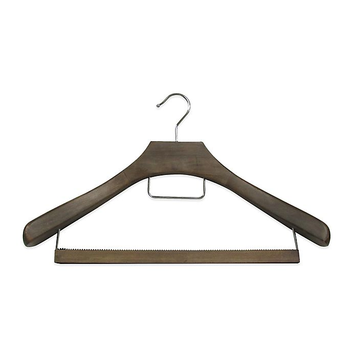 Alternate image 1 for Refined Closet™ Suit Hanger with Non-Slip Wooden Bar in Walnut