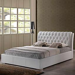 Baxton Studio Bianca Queen Platform Bed with Tufted Headboard