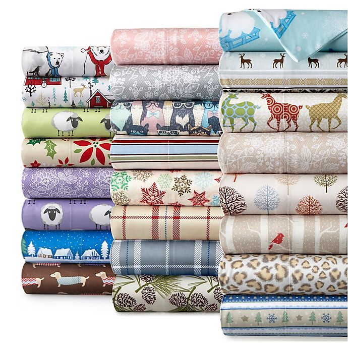 Alternate image 1 for Micro Flannel® Printed Sheet Set