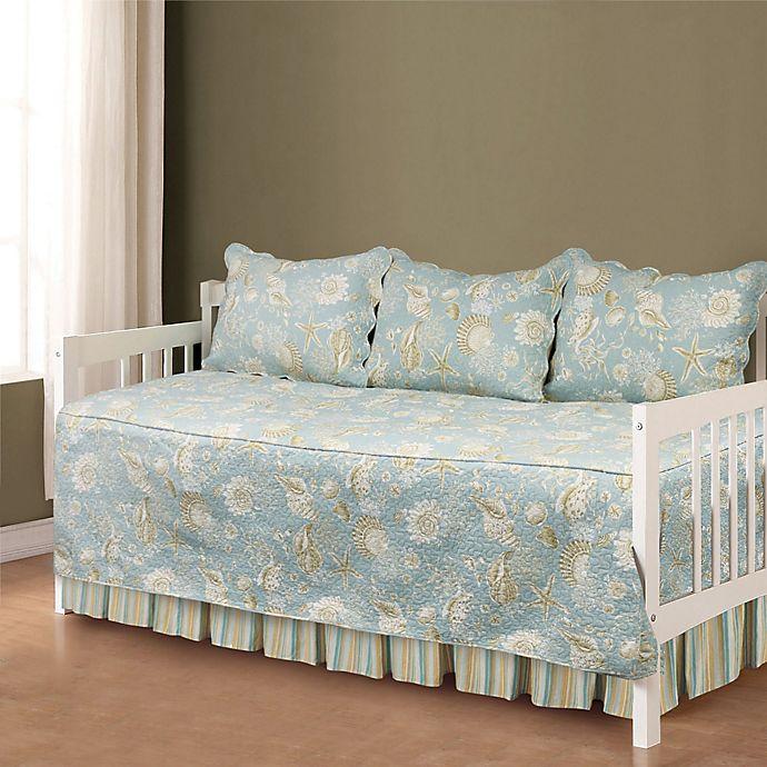 natural shells daybed bedding set in blue beige bed bath beyond. Black Bedroom Furniture Sets. Home Design Ideas