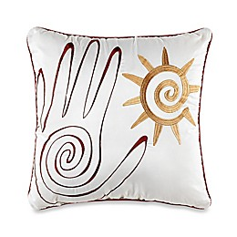Desert Dream Square Throw Pillow in White