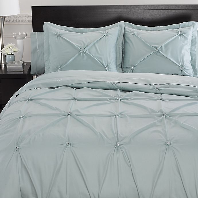 Alternate image 1 for Memento Duvet Cover with Swarovski® Crystal Accents in Aqua