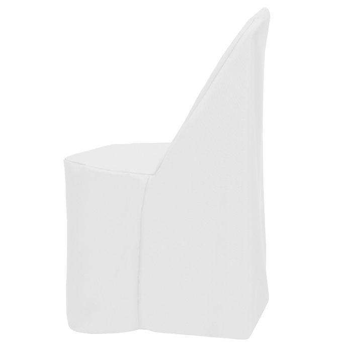 Alternate image 1 for Basic Polyester Cover for Plastic Folding Chair in White